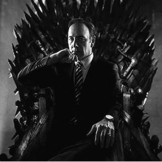 HOUSE OF CARDS'TAN GAME OF THRONES'A TWEET