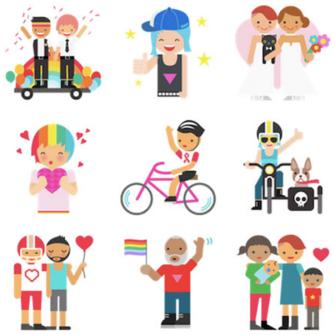 FACEBOOK GURURLA SUNAR: LGBT EMOJİ'LERİ