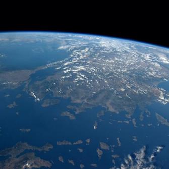 ÜNLÜ ASTRONOT UZAYDAN TÜRKİYE'NİN VESİKALIĞINI ÇEKTİ