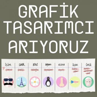GRAFİK TASARIMCI ARIYORUZ