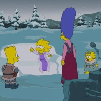 THE SIMPSONS'TAN NOEL'E ÖZEL KANEPE ŞAKASI