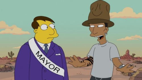 PHARRELL HAPPY YÜZÜNDEN THE SIMPSONS KÖYÜNDEN KOVULDU