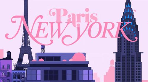 NEW YORK VE PARİS'İ KAPIŞTIRAN ANİMASYON