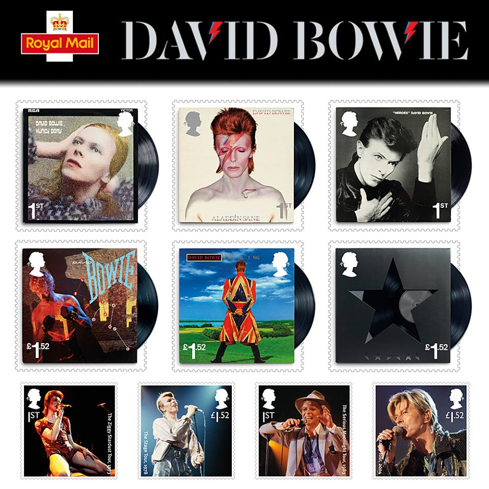 ROYAL MAIL'DEN EVLADİYELİK DAVID BOWIE PUL SETİ