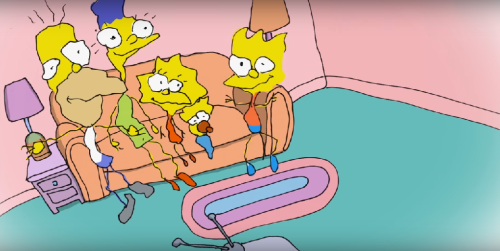 BILL PLYMPTON'DAN THE SIMPSONS'A COUCH GAG