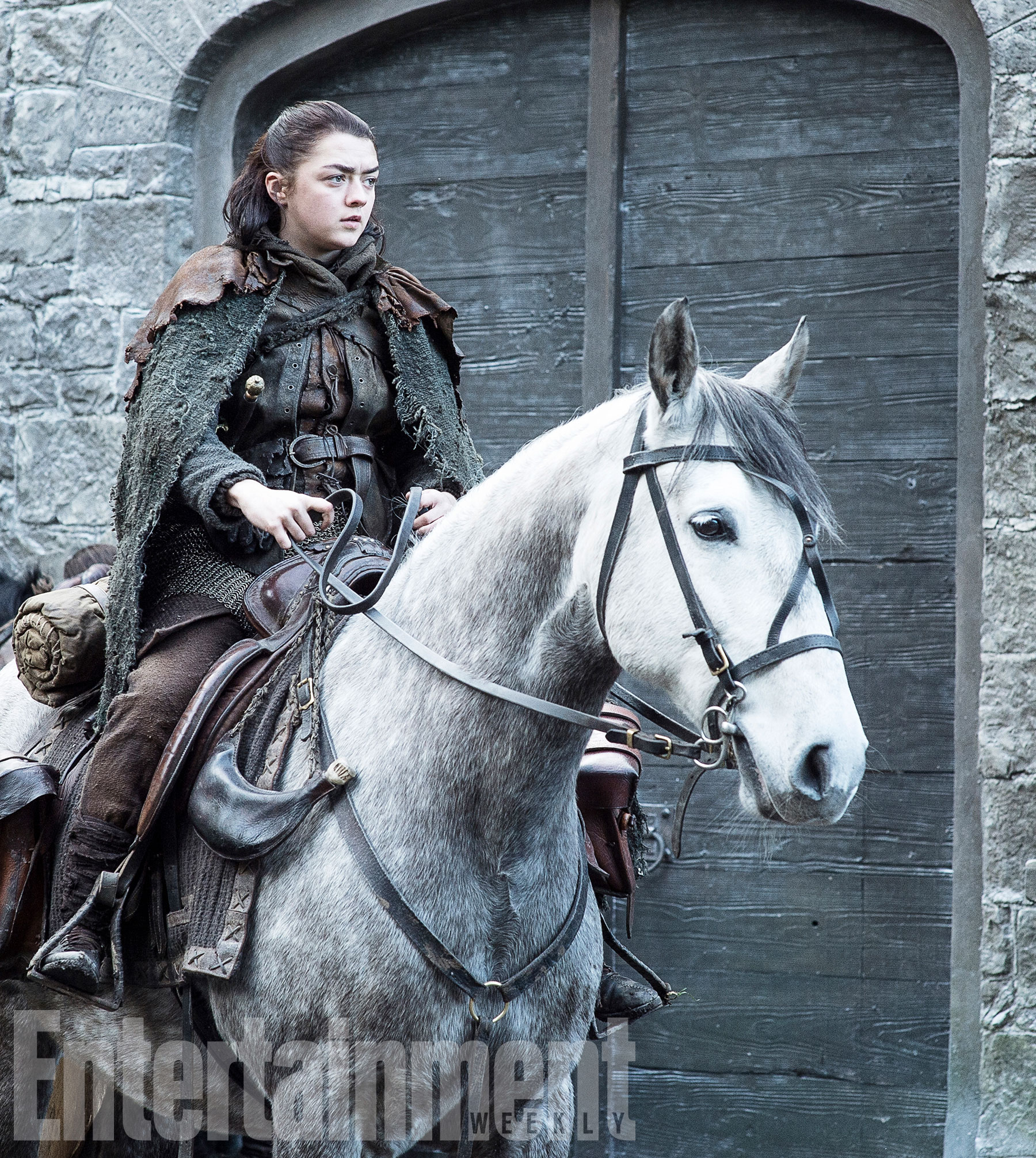 Arya-Stark-Maisie-Williams-mounted-up-and-on-the-road-—-but-to-where-—-in-season-7