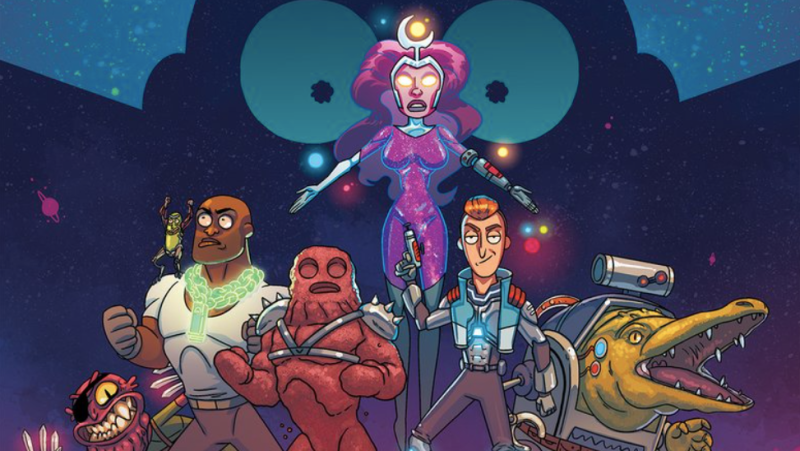 RICK AND MORTY'NİN THE VINDICATORS'I KENDİ ÇİZGİ ROMANINA KAVUŞUYOR
