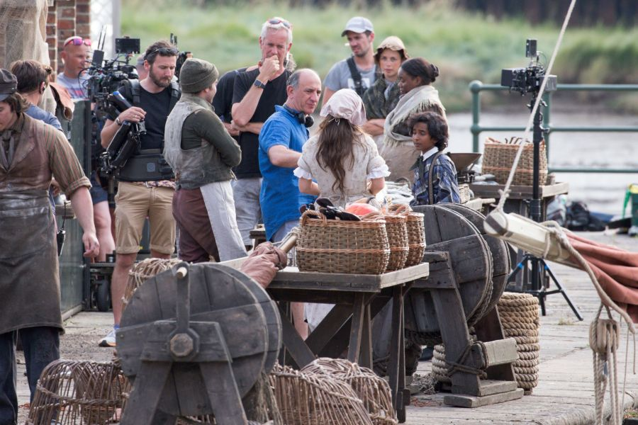 'The Personal History of David Copperfield' on set filming, King's Lynn, Norfolk, UK - 19 Jul 2018