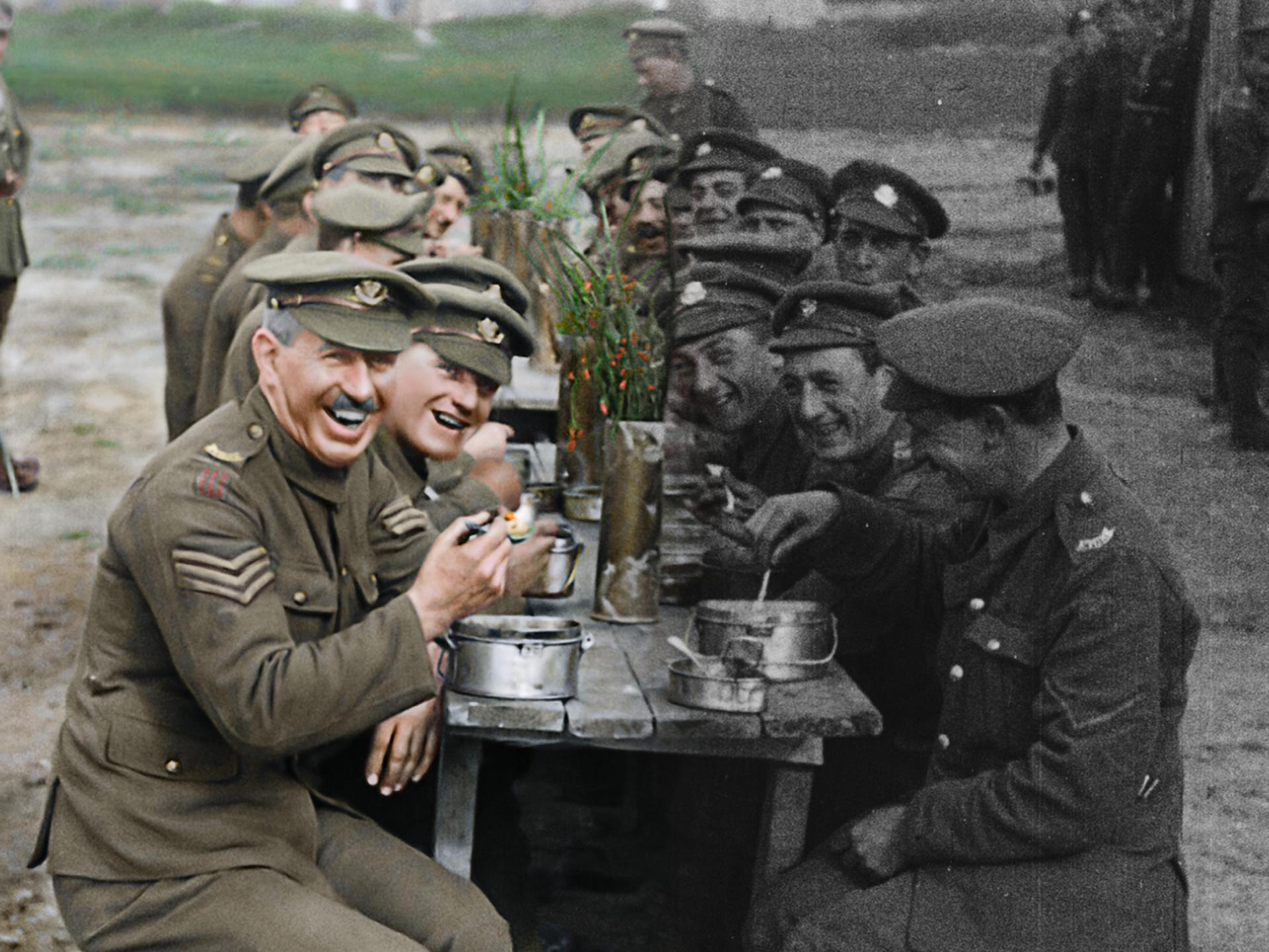 They Shall Not Grow Old Artwork_Colourised footage artistic rendition 2018 - THEY SHALL NOT GROW OLD by WingNut Films with Peter Jackson. Original black and white film © IWM