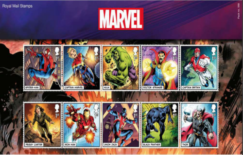 ROYAL MAIL'DEN MARVEL ÖZEL PUL SERİSİ