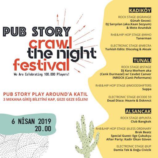 pub story ile bir gece, üç şehir, sınırsız eğlence