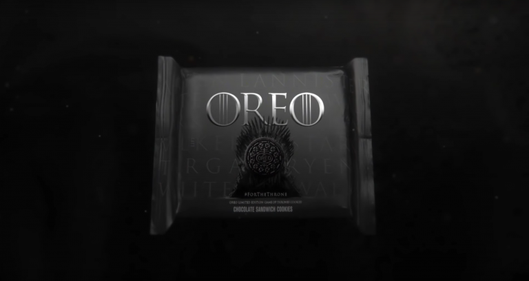 game of thrones açılış jeneriğine oreo dokunuşu