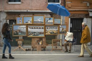 banksy venedik bienali'nde ortaya çıktı