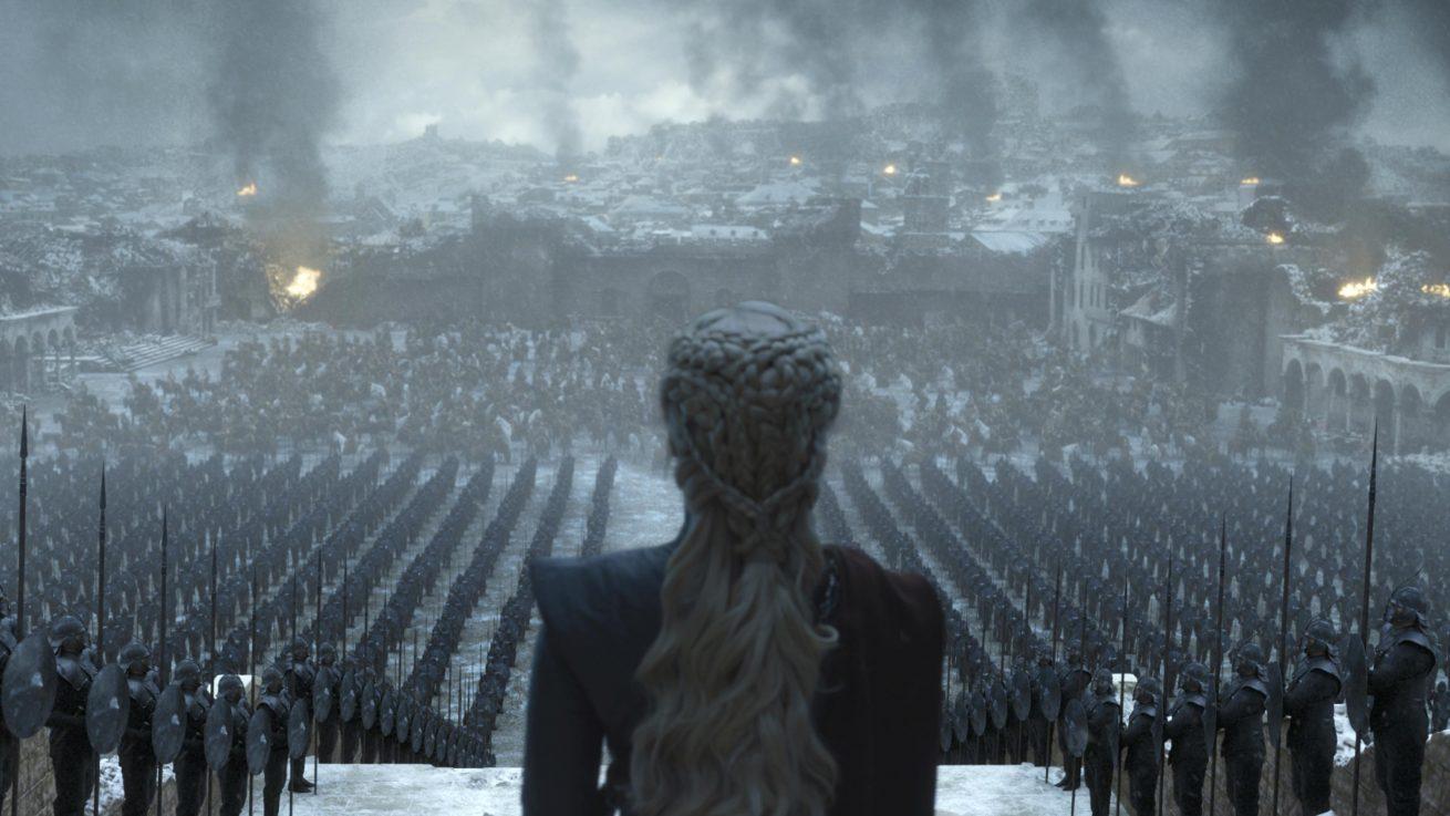 game of thrones'un final bölümünden iki görsel