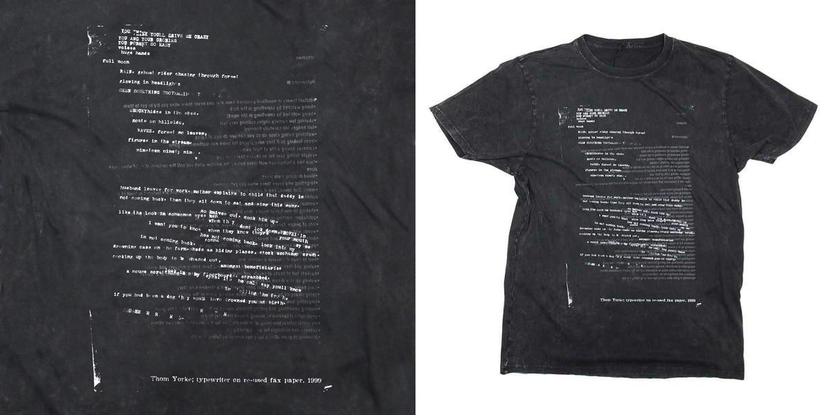 radiohead'den sadece bu hafta sonuna özel t-shirt satışta