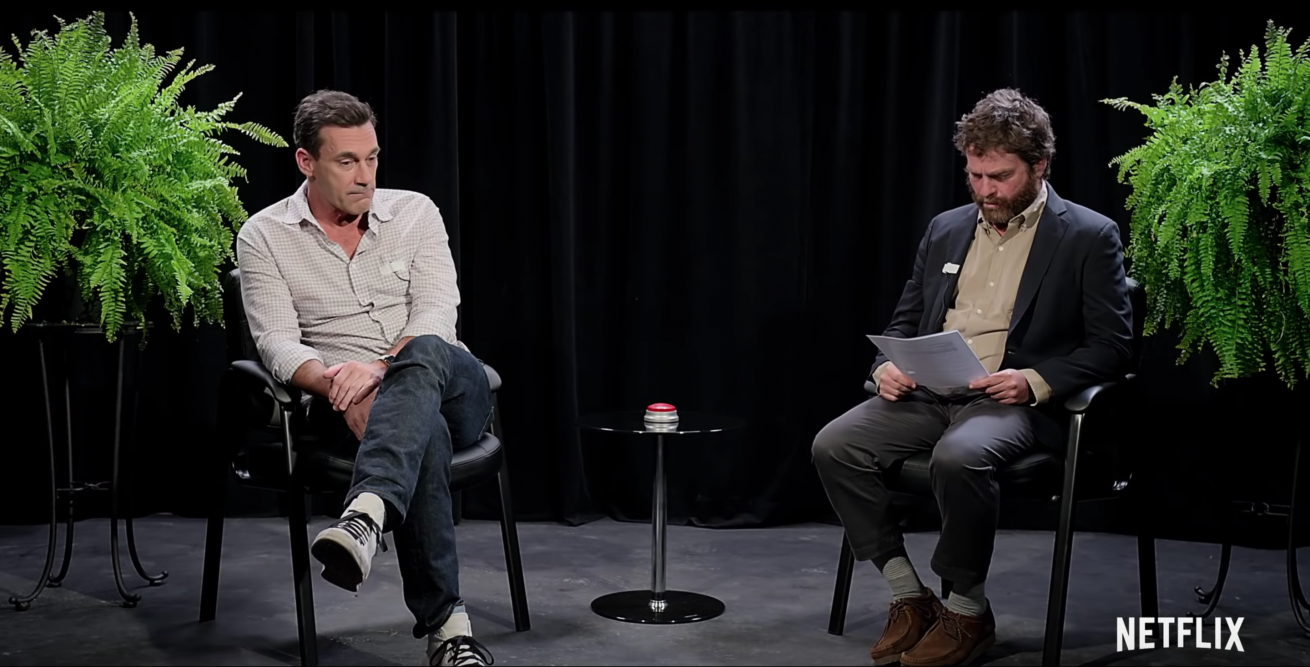 netflix'in between two ferns filminden yıldız dolu fragman