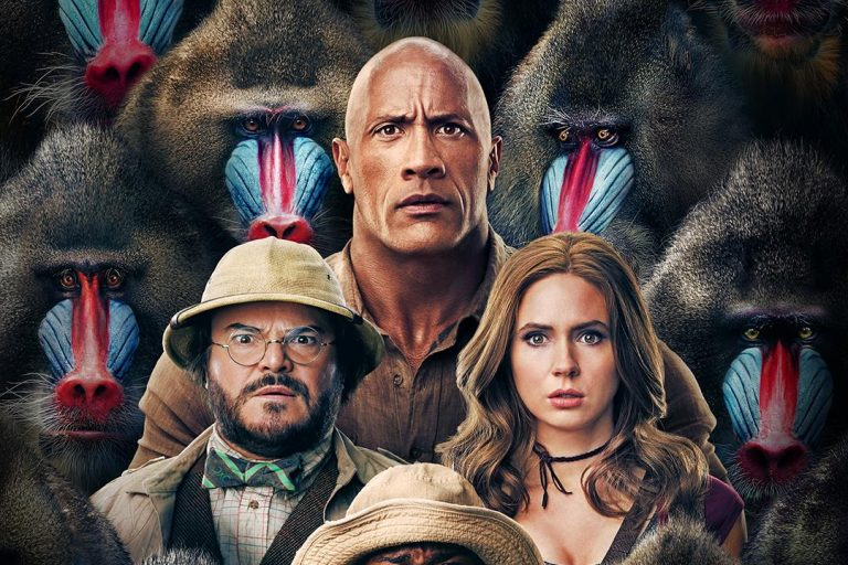 dwayne johnson ve jack black'li jumanji: the next level'ın posteri yayınlandı