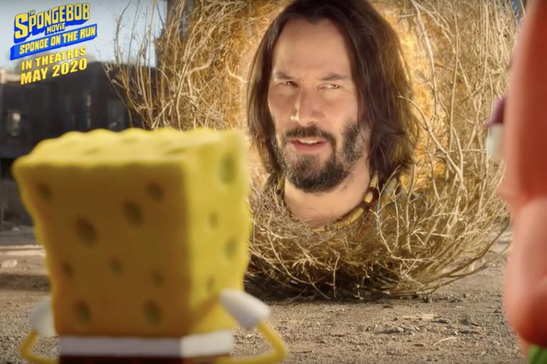 keanu reeves'li spongebob filminden ilk fragman geldi