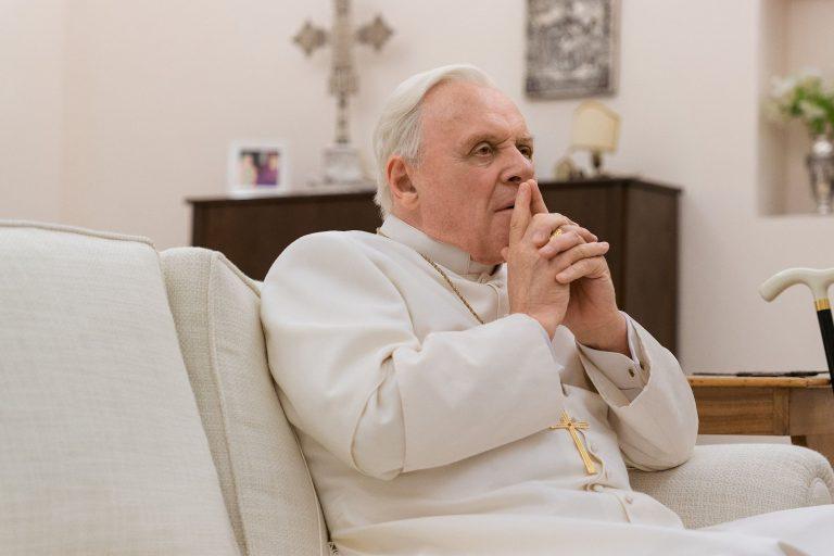 anthony hopkins ve jonathan pryce'ı buluşturan the two popes'tan fragman
