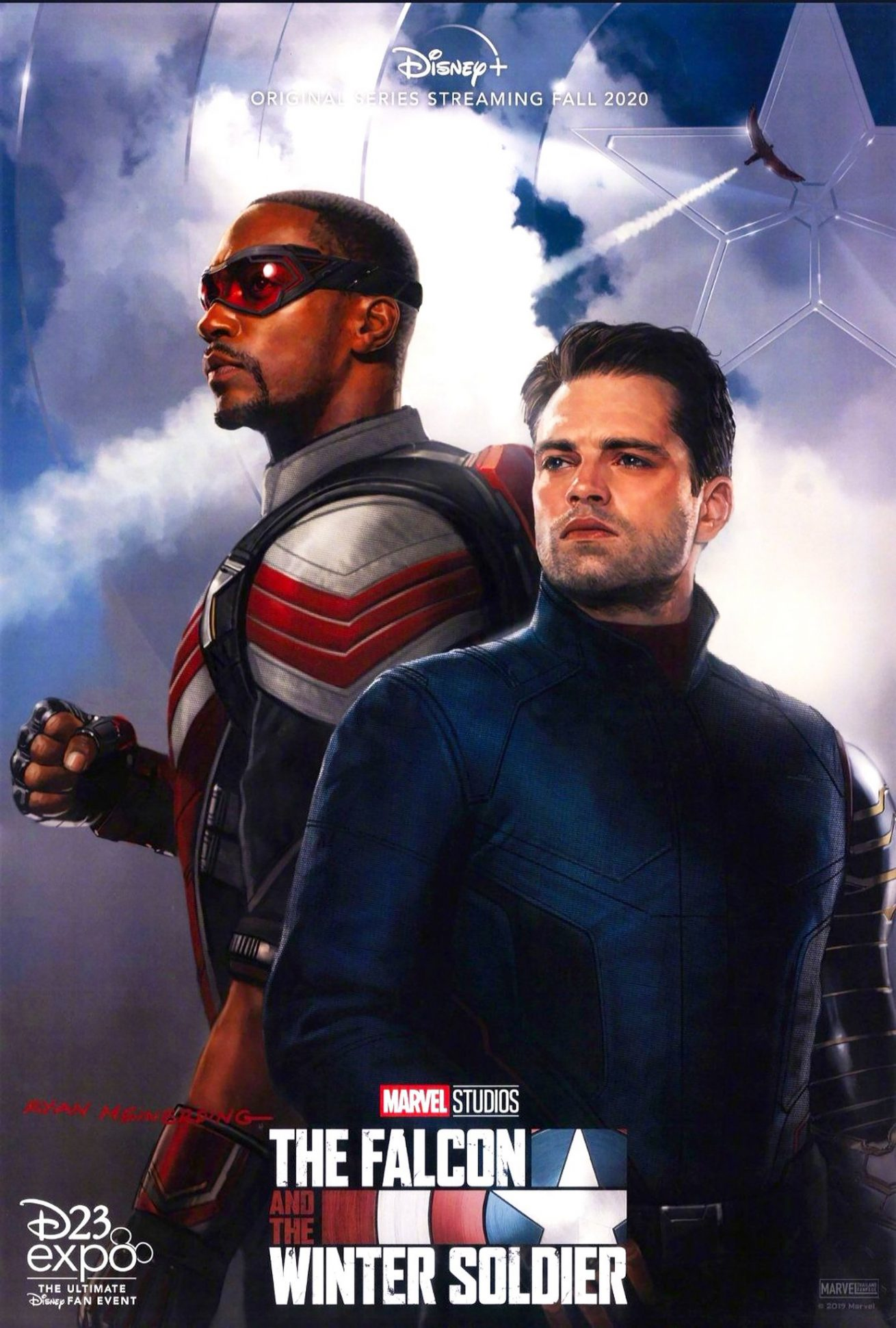 disney+'ın yeni dizisi the falcon and the winter soldier'dan poster