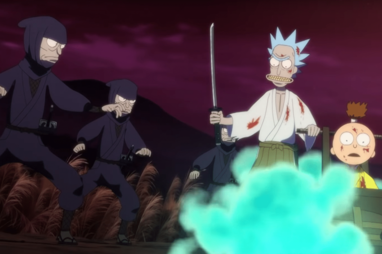 rick and morty'dan beş dakikalık anime bölümü