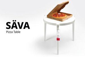 ikea ve pizza hut'tan ortak bir çalışma: säva