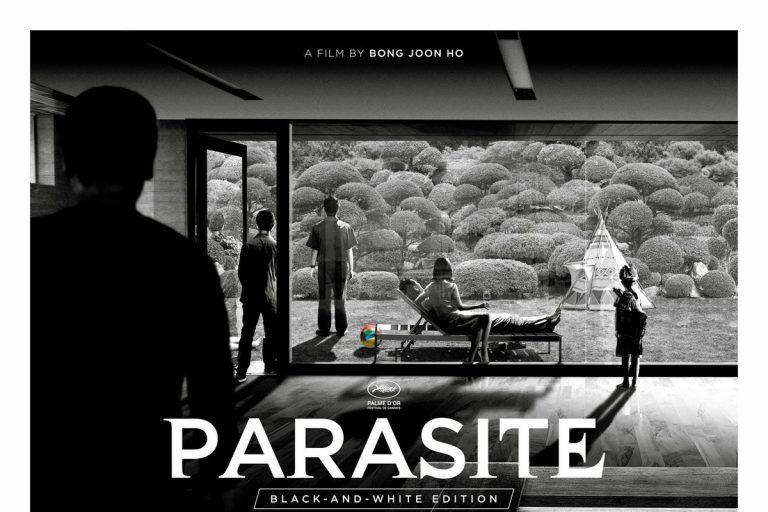 parasite'ın siyah beyaz versiyonundan bir poster ve bir fragman geldi