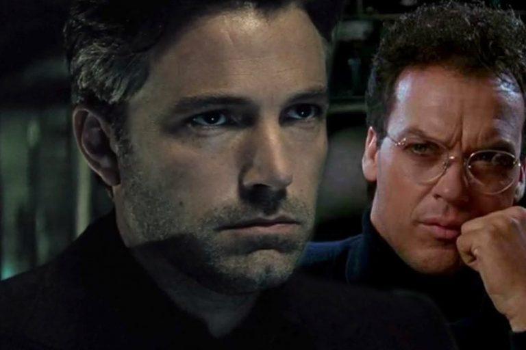 ben affleck'in batman'i ve michael keaton'ın batman'i the flash için buluşuyor