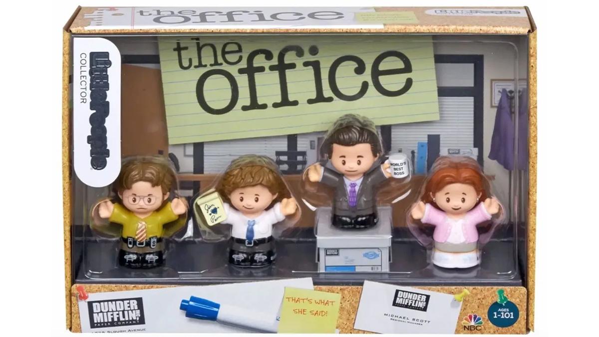 fisher price'tan bebelere the office oyuncakları