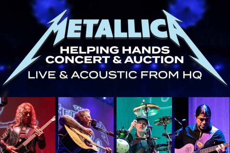 metallica'dan yardım amaçlı canlı akustik konser