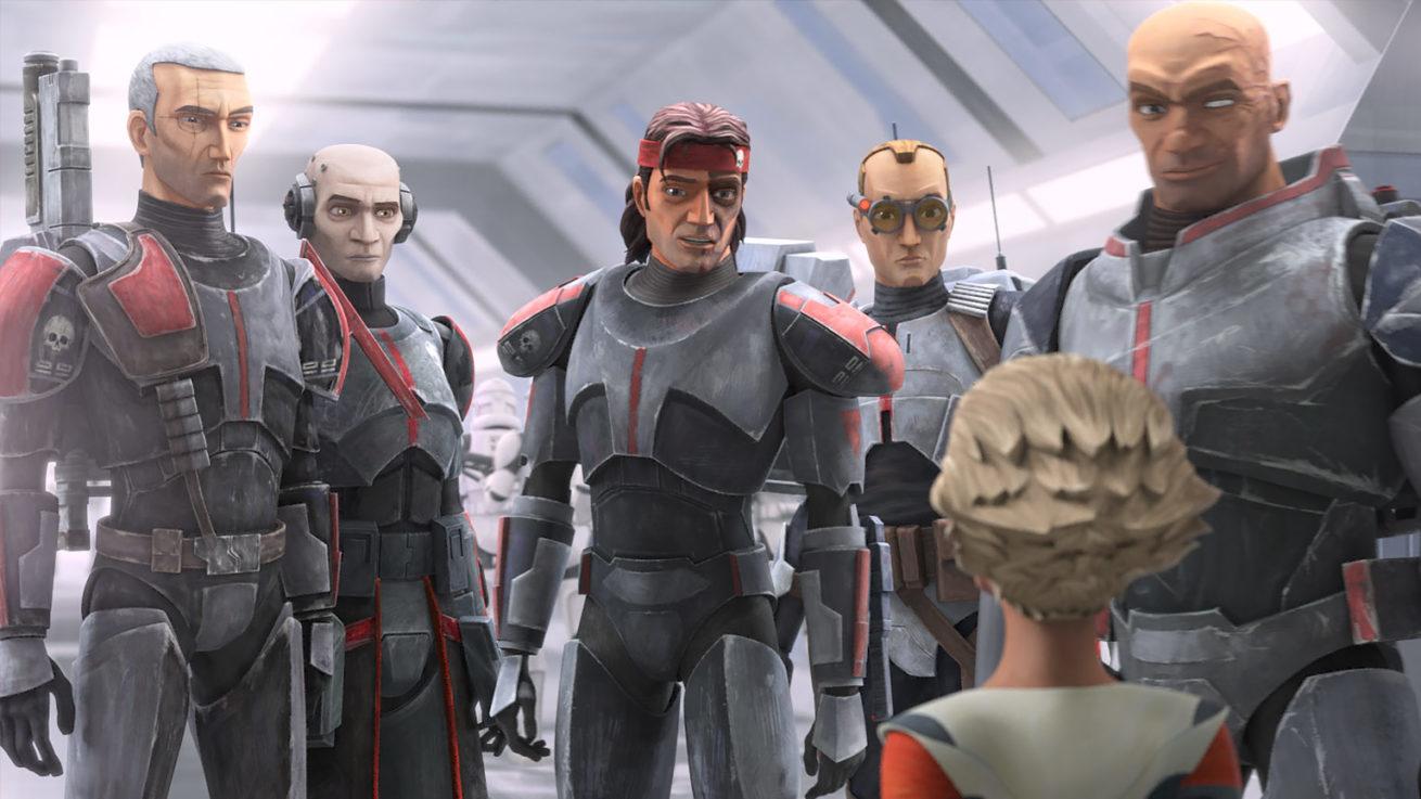 "star wars: the clone wars serisinin spin-off'u ""star wars: the bad batch""ten fragman"