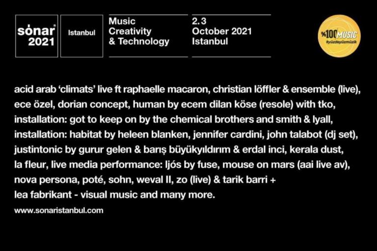 sónar istanbul 2021: dorian concept + john talabot + kerala dust + mouse on mars + poté + sohn
